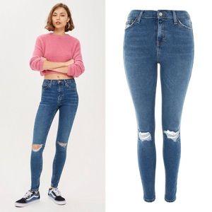 Topshop Jaime High Rise Distressed Skinny Jeans 12